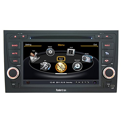 Koolertron For 2002 2003 2004 2005 Audi A4 Car DVD GPS Navigation With 3 Zone POP 3G/WIFI/20 Disc CDC/ DVD Recording/ Phonebook / Game (Original Factory Pannel Design,Free Map)