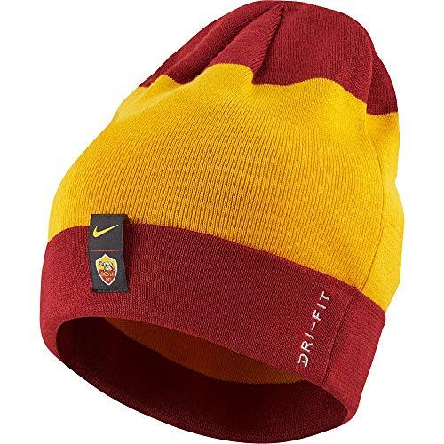 Nike AS Roma Knitted Beanie 2018 2019 - Maroon Gold 79cc8c18e4ed4