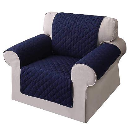 Umiwe Funda Sofa 3 Plazas Cubre Sofas 2 Plazas Funda Sillon Sofa Saver elasticas para Perro en Negro Borgona Marron Azul (Sillon, Azul 1)