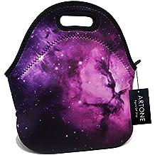 Artone Purple Universe Galaxy Insulated Lunch Bag Waterproof Neoprene Lunchbox Container Case Purple