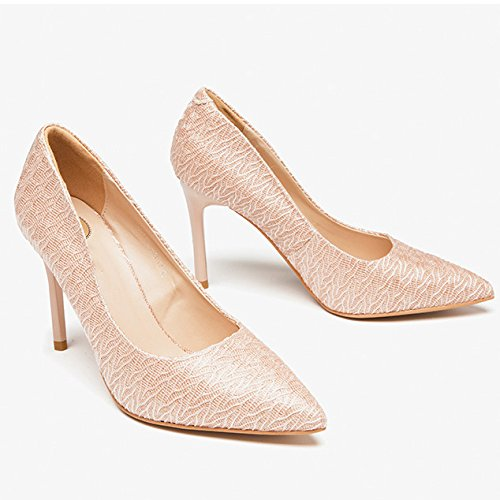 UK Hauts 9cm Sexy Chaussures Chaussures Mode Nightclub Cour 4 Noir Nude Femme Party EU WeddingDUSTO Travail 37 Talons 5 aCnAqwO
