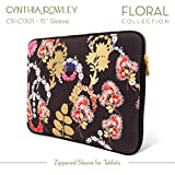 "Cynthia Rowley Design Laptop Case 15 inch Zippered Sleeve - Macbook Pro 15"" Retna (Black/Multi Color)"
