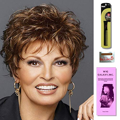 - Whisper by Raquel Welch, Wig Galaxy Hair Loss Booklet, Wig Cap & Magic Wig Styling Comb/Metal Pick Combo (Bundle - 3 Items) (Average, Smoked Walnut (R38))