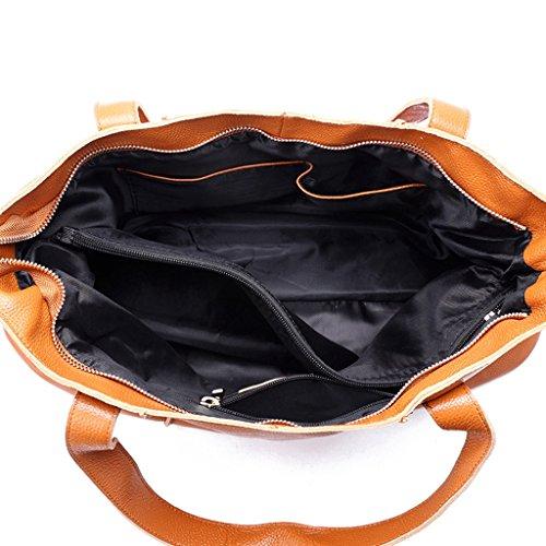 1 Vintage 6 A Borsa viaggio Tipo Sucastle Spalla università In Pelle Donna Messenger Tracolla D'affari Bag ZwBxHgq