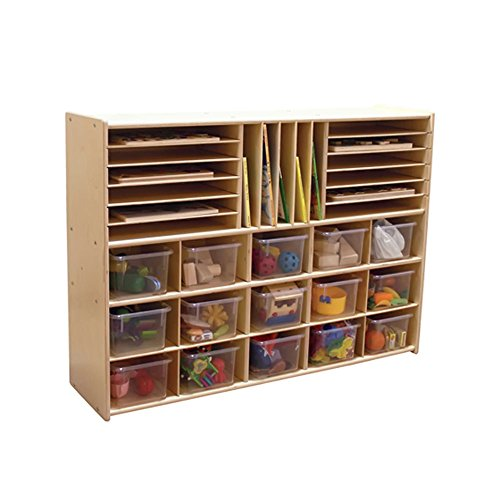 """Price comparison product image Contender Kids Home School Furniture C14001 Multi-Storage with 15 Translucent Trays 33-7 / 8""""H"""