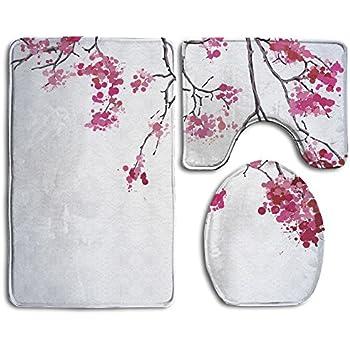 Amazon Com Sarahken Bathroom Rug Japanese Decor Cherry