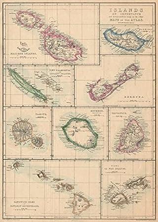 Carte Du Monde Tahiti.Iles Malte Madere Bermudes Reunion Hawai Tahiti Maurice Weller