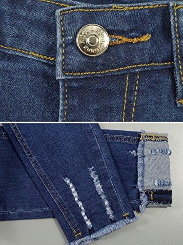 amp; Stretch Donna jeans Jeans Vita Elmer Alta Skinny Blu Alice t4wA4