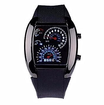 Tocoss(TM) La alta calidad de los hombres RPM Turbo Sport Reloj Digital LED