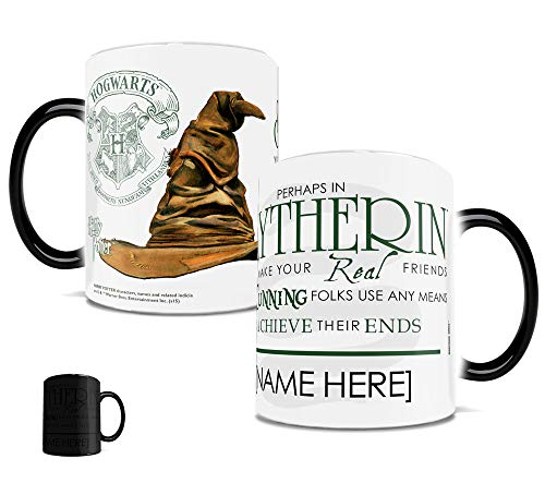 Morphing Mugs Personalized Harry Potter Slytherin Sorting Hat Quote Heat Sensitive Ceramic Coffee Mug - 11 Ounces - ADD YOUR OWN NAME TO YOUR HOGWARTS HOUSE! (Name Of The Hat In Harry Potter)