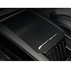 Topfit Car interior Car Center Console Decoration Cover Carbon fiber stickers for Tesla Model S and X