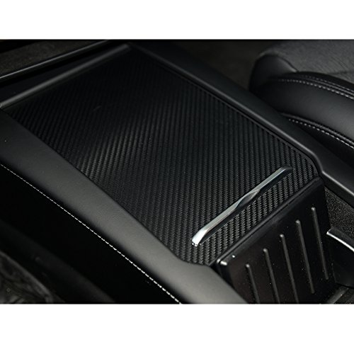 Topfit Car interior Car Center Console Decoration Cover Carbon fiber stickers for Tesla Model S and (Carbon Fiber Center Console)