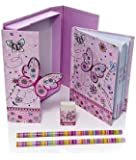 Butterly Gift Idea for Girls Boxed Children's Notebook and Stationery Gift Set