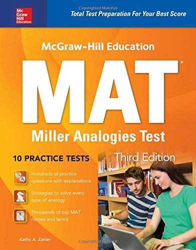 Pdf Test Preparation McGraw-Hill Education MAT Miller Analogies Test, Third Edition