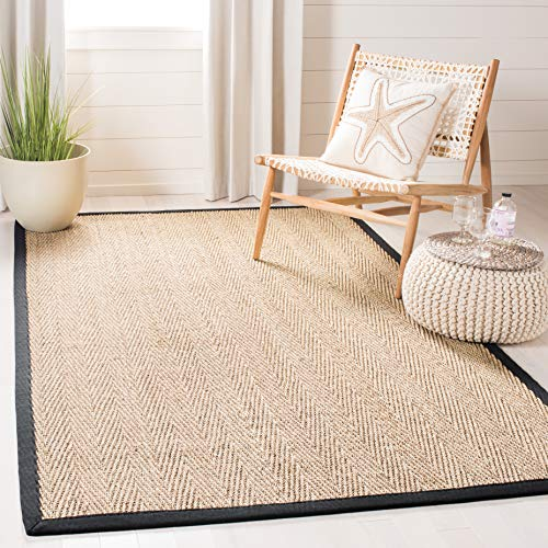 Safavieh Natural Fiber Collection NF115C Herringbone Seagrass Area Rug, 8