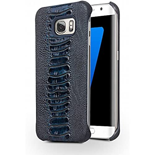 Galaxy S7 Case, QIALINO[Slim Armor] Genuine Leather Back Cover Bumper, Luxury Fashion Phone Protector for Samsung Galaxy S7, Blue Sales