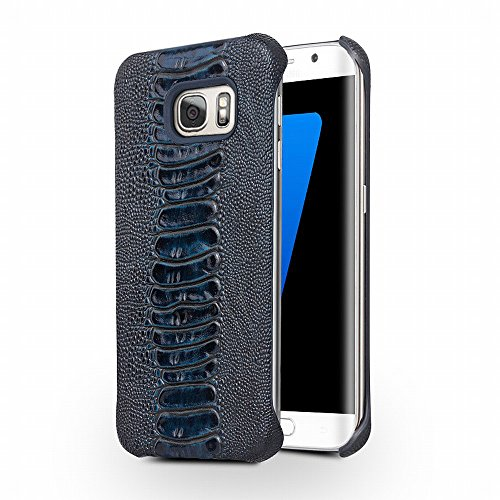 Galaxy S7 Case, QIALINO[Slim Armor] Genuine Leather Back Cover Bumper, Luxury Fashion Phone Protector for Samsung Galaxy S7, - Genuine Armor Case Leather
