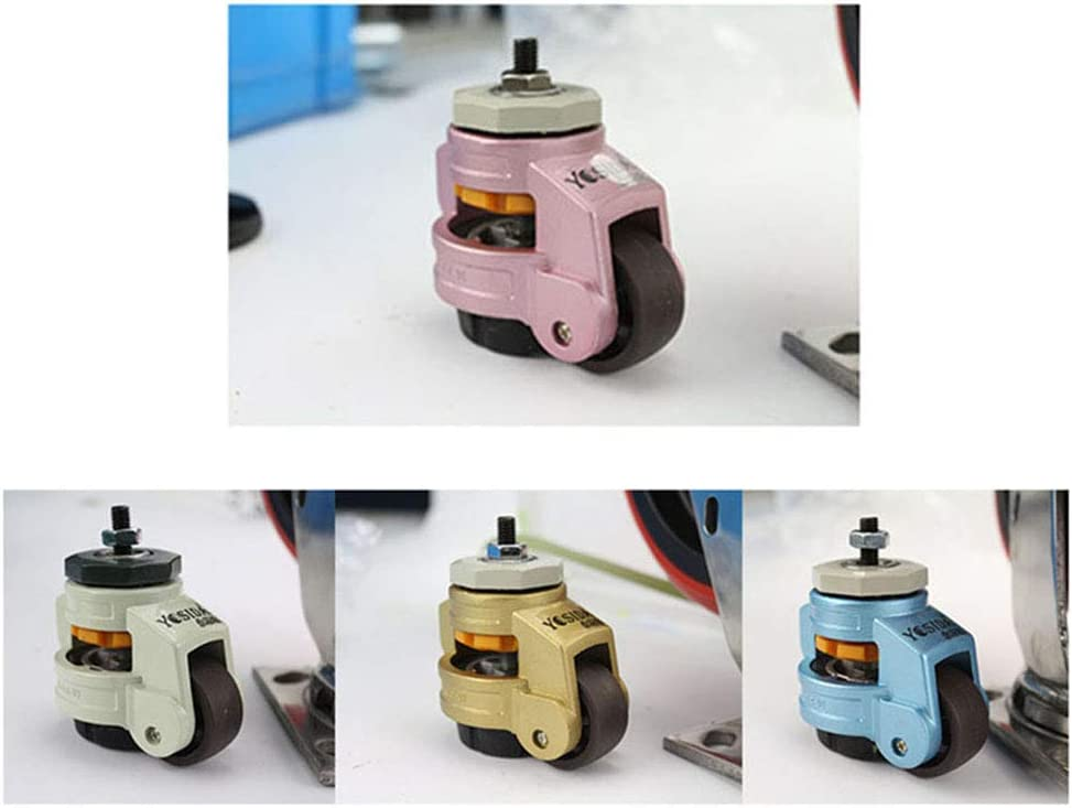 4er Set Outech Schwerlastrollen Nylon-Lenkrollen Industrierollen Gummibasis Apparaterollen M8//M12//M14