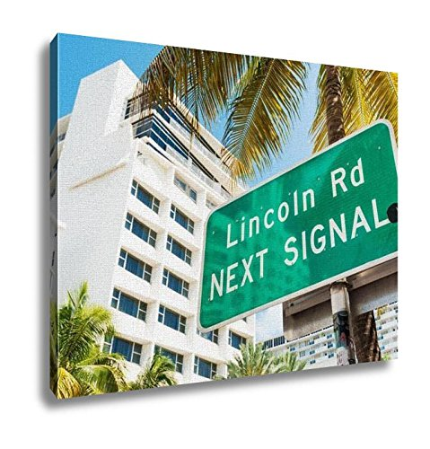 Ashley Canvas, Street Sign Marking Directions Lincoln Road Miami, Home Decoration Office, Ready to Hang, 20x25, AG6121222 (To Boulevard Mall The Directions)