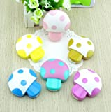 Petmall Super Mario colored mushrooms Mushroom Contact Lenses box case for lenses Eyewear Accessories Contact lens bag OFFICE-222