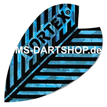MS-DARTSHOP Vortex Flights, 1 Set = 3 pezzi, gold