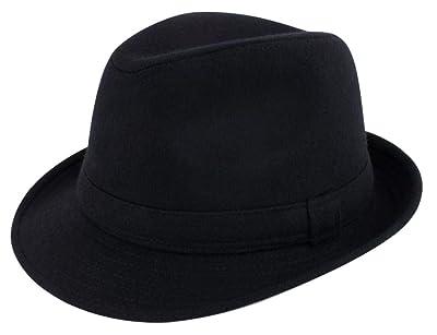 b6e43452e5cbb Lullaby Mens Short Brim Classic Manhattan Gangster Trilby Fedora Hat