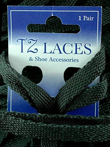 Tz Branded Flat 3/8 (10mm) Zapatillas De Moda Plimsoles Botas Zapato Y Skate Bota Laces Negro