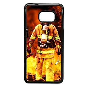 Samsung Galaxy Note 5 Edge Phone Case Black Firefighter Emblem VC3XB5071998