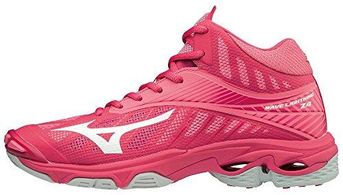 Azalea para Mujer Zapatillas Rosa Mizuno Wave Lightning Z4mid 001 Wht Camelliarose qXwn0Ip