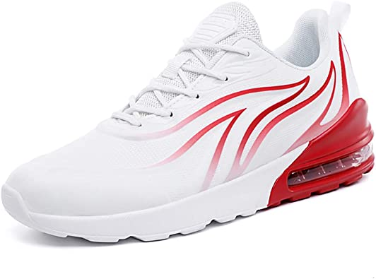 Zapatillas de Correr para Hombre - Air Cushion - Zapatillas de Tenis Ligeras y Transpirables para Entrenamiento atlético para Hombre, Color Blanco, Talla 45 EU: Amazon.es: Zapatos y complementos