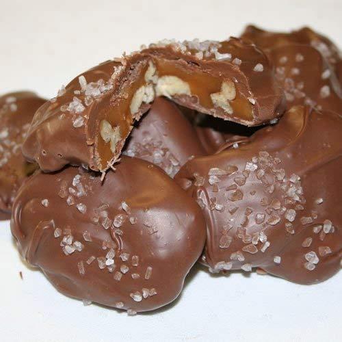 Pecan Caramel Clusters with Sea Salt (No Melt Guarantee) - Milk Chocolate - 1 Pound