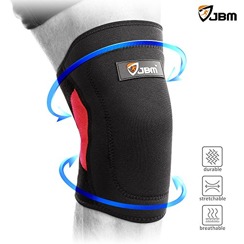 Recovery Single (JBM Knee Brace Compression Sleeve Patella Knee Stabilizer Support for Running, Jogging, Sports, Joint Pain Relief, Arthritis and Injury Recovery-Single)