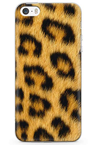 iPhone 5 Case, iPhone 5s, iPhone SE Wild Cheetah Print Phone Case by Casechimp | Clear Ultra Thin Lightweight Gel Silicon TPU Protective Cover | Animal Print Nederdel Cheetah Wrap - Iphone Charger Cheetah 5s