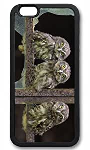 Cute owl animal Easter Thanksgiving Masterpiece Limited Design tpu black Case for iphone 6 by Cases & Mousepads