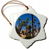 3dRose Spain, Seville, The Alcazar, Gardens - Eu27 Wbi0973 - Walter Bibikow - Snowflake Ornament, Porcelain, 3-Inch (orn_139528_1)