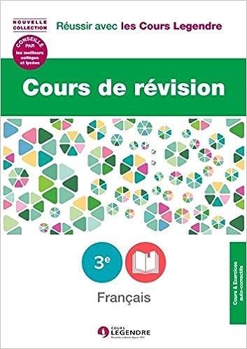 Amazon Fr Cours De Revision Francais 3e Lecons Et