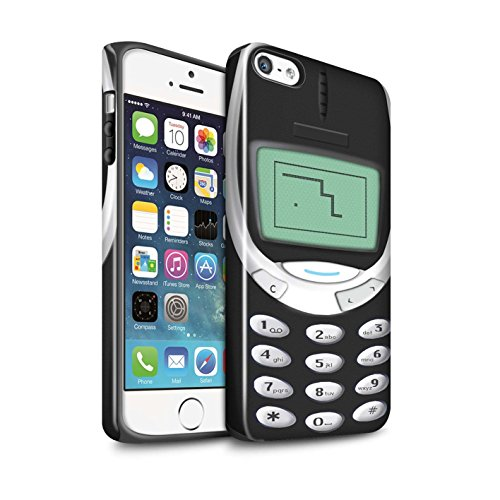 Price comparison product image STUFF4 Gloss Tough Shock Proof Phone Case for Apple iPhone 5 / 5S / Black Nokia 3310 Design / Retro Phones Collection