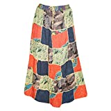 Womens Vintage Patchwork Skirt Boho Style Gypsy Long Maxi Skirts