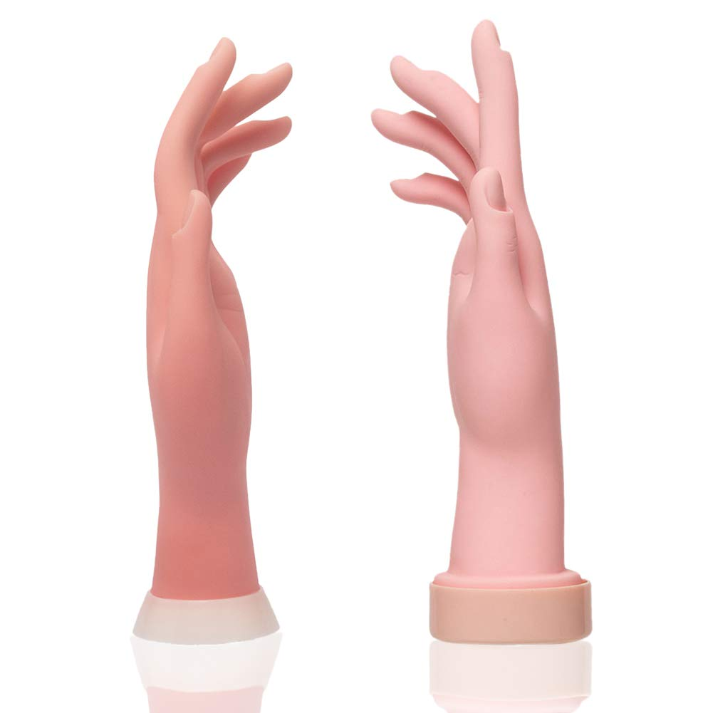 Nail Art Practice Hand Training Flexible Movable Fake Mannequin Hands Left & Right Manicure Tool for Beginners or Salon Artist : Beauty