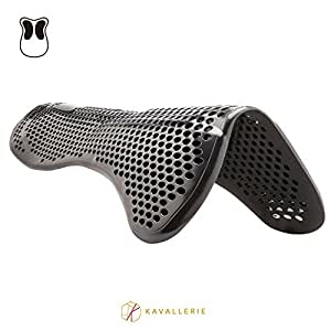 Kavallerie Gel Half Pad/Saddle Pad - Prevent Saddle Bridging or Sore Back - Breathable & Washable - Perfect for Eventing, Schooling, Dressage, Jumping, Training - Front Riser
