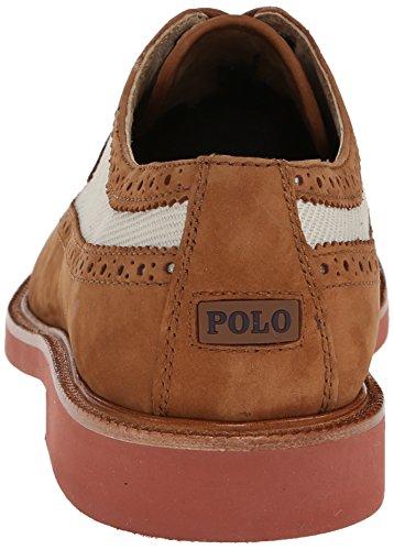 Polo Ralph Lauren Mens Torrington Vingspets Oxford Polo Tan / Klassiska Sten