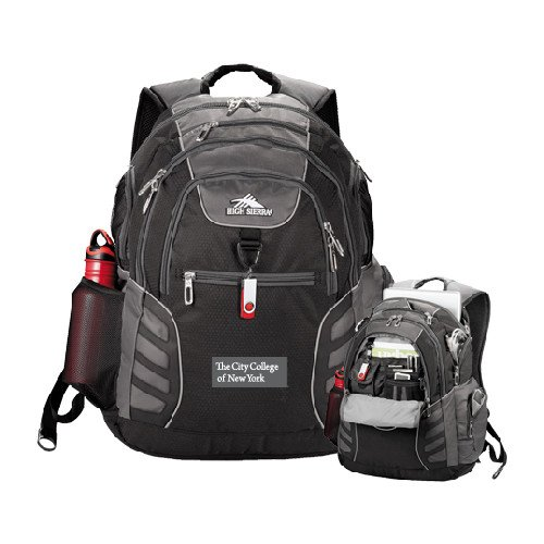 High Sierra Big Wig Black Compu Backpack 'Official Logo' by CollegeFanGear