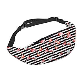 Fashion New 08lizhiqin- Colorful Waist Pack for Men Fanny Pack Bum Bag Flamingo Women Money Belt Travelling Mobile Phone Bag