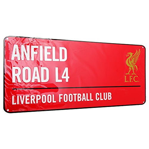 Liverpool FC Red Street Sign - Liverpool 3 Shop Street