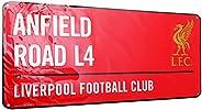 Liverpool F.C. Metal Street Sign Red