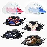 Plusmart Shoe Bag 4-Pack Shoe Storage Bag and 2-Pack Shoe Laundry Bag, Shoe Organizer Bag Travel Shoe Bag for Men and Women with Transparent Window Zipper Travel Accessories