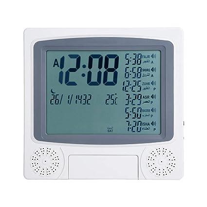 Muslim Azan Table Prayer Clock Digital Muslim Prayer Alarm Athan Islam for Prayer HA-4012 Clock Islamic Azan Alarm Clock