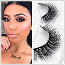 Miss Kiss Brand Mink 3D Lashes Dramatic Makeup Strip Eyelashes 100% Siberian Fur Fake Eyelashes Hand-made False Eyelashes 1 Pair Package Case (3D04)