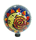 Echo Valley 8199 10-Inch Mosaic Glass Gazing Globe, Sun-Moon