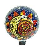 Echo Valley 8199 10-Inch Mosaic Glass Gazing Globe, Sun-Moon